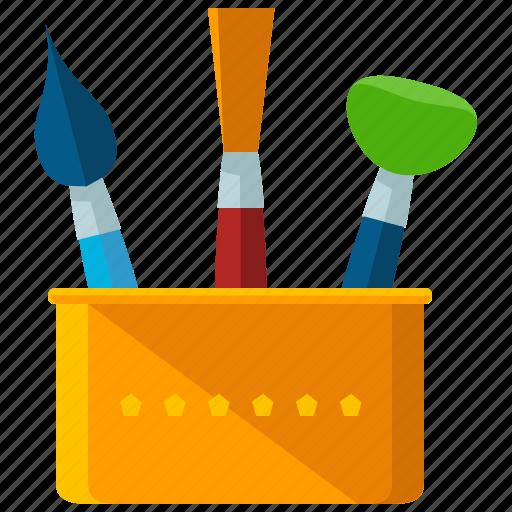 brushes, design, draw, graphic, tool icon