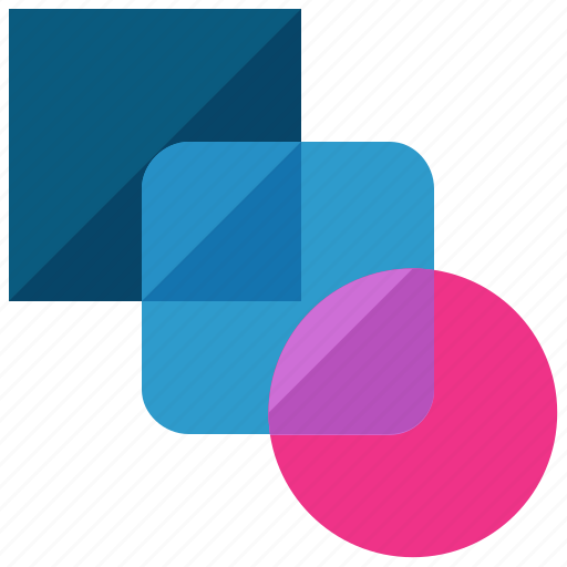 design, graphic, layers, shapes, tool, transperancy icon