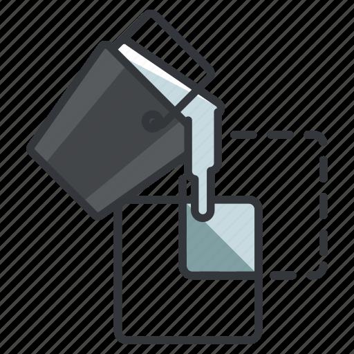 bucket, design, graphic, live, paint, tools icon