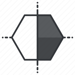 design, graphic, hexygoon, polygon, tool, tools icon