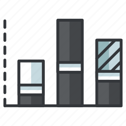 column, creative, design, graph, graphic, stacked, tools icon