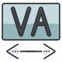 creative, design, graphic, tools, type, width icon
