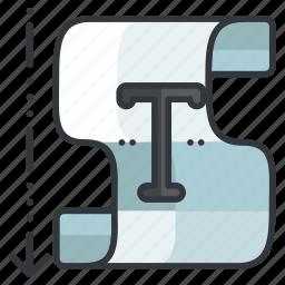 area, creative, design, graphic, tools, type, vertical icon
