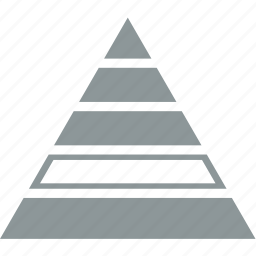 analysis, chart, diagram, pyramid, statistics icon