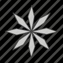 flower, gray, stroke, w icon