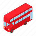 bus, cartoon, decker, double, england, tourism, travel icon