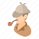 cartoon, englishman, gentleman, male, pipe, retro, vintage icon