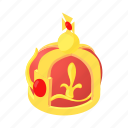 cartoon, crown, decoration, element, king, luxury icon