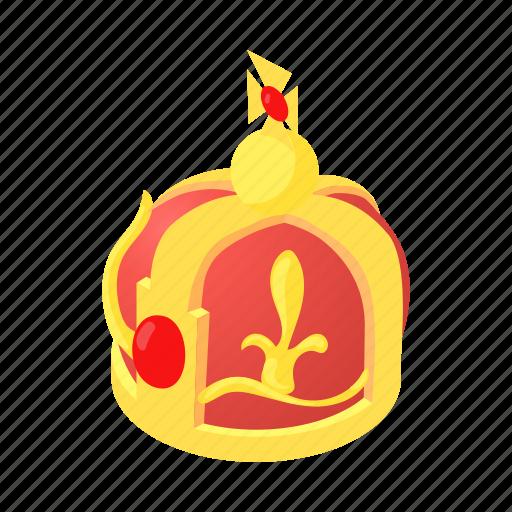 cartoon, crown, decoration, element, king, luxury icon