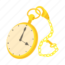 cartoon, clock, design, modern, pocket, time, watch icon