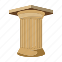 antiquity, architecture, column, sight icon