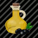 food, greece, jar, oil, olives icon