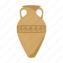 jug, ancient, amphora, greek, vessel icon