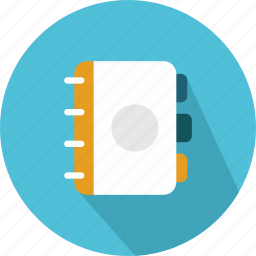 agenda, bookmarks, education, meeting, notebook, notepad, writing icon