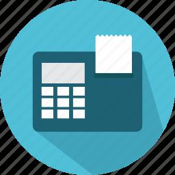 calculator, calculators, financial, print, printer icon