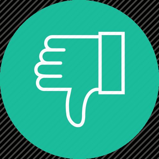 dislike, finger, gestures, hands, looser icon