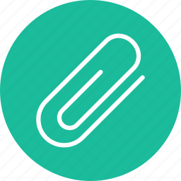 attach, attachment, material, office, school, tool icon