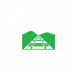 goal, path, railway track, way icon