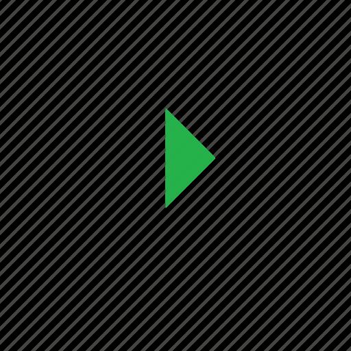 left-arrow, play icon