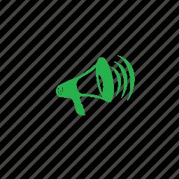 anouncement, offers, speaker icon