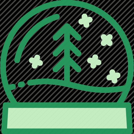 ball, christmas, glass, globe, house, snowglass, tree icon