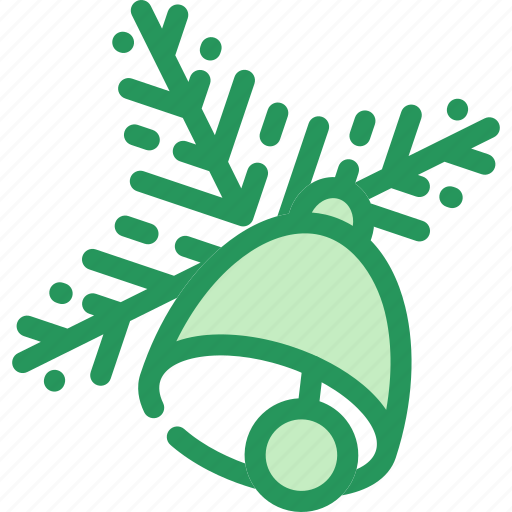 bell, celebration, christmas, decoration, gift, tree, twig icon