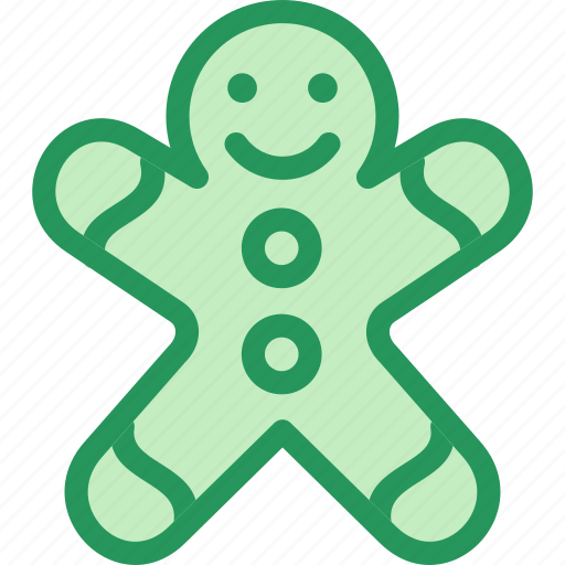 christmas, cookie, food, gingerbread, holidays, man, winter icon