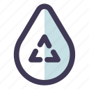 green, recycle, water icon