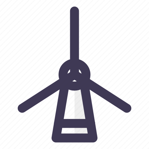 electricity, energy, windmill icon