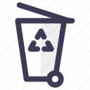 green, recycle, trash icon