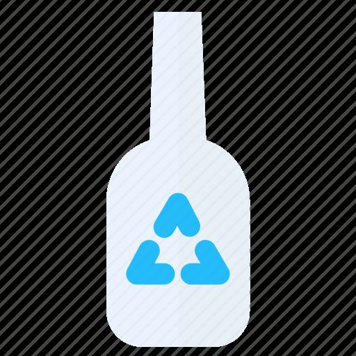 bottle, glass, green icon