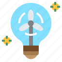 electricity, energy, green, lightbulb, power, renewable, wind