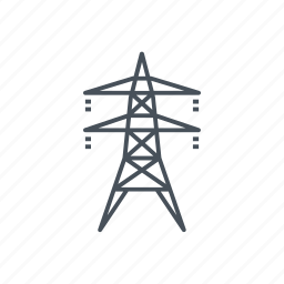 contamination, electric tower, electrical, electricity, energy, pollution icon