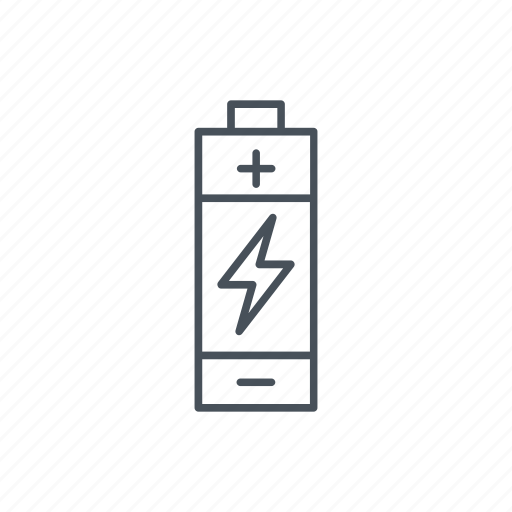 batteries, battery, bolt, charge, ecologism, energy, power, tool icon