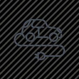 automobile, car, electric, plug, socket, transport, vehicle icon