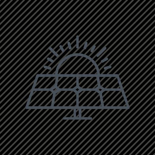 ecologic, panel, power, solar power energy, sun, tool icon