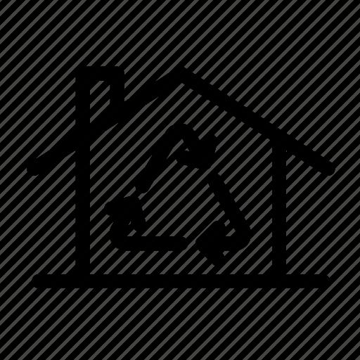 ecology, home, home renovation, house, recycle, renovate, renovation icon