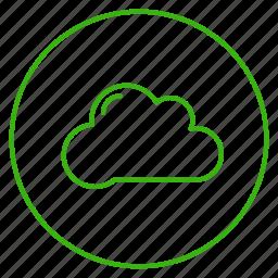 cloud, eco, ecology, energy, environment, rain, sky icon