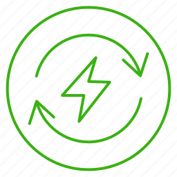 eco, ecology, electricity, energy, environment, power, recycling icon