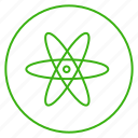 atom, eco, ecology, energy, environment, power, powerhouse icon