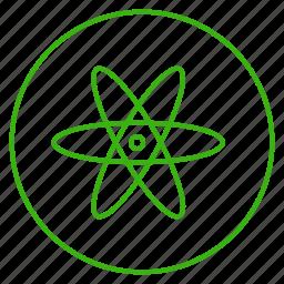 atom, eco, ecology, energy, environment, power, powerhouse icon