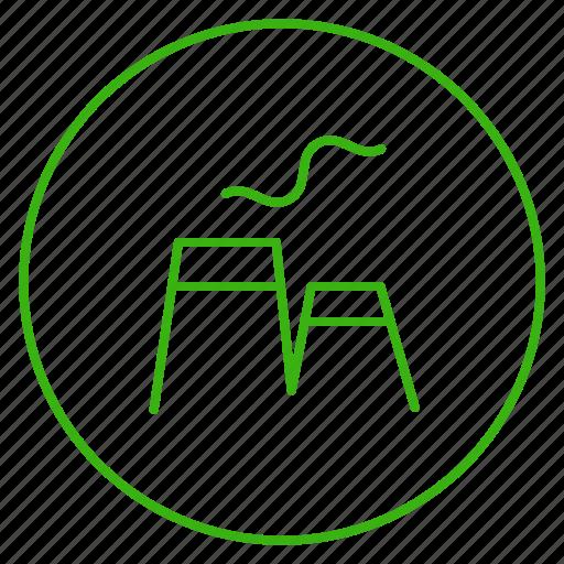 eco, ecology, energy, environment, power, powerhouse, smog icon
