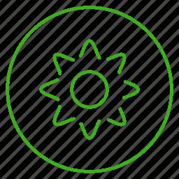 eco, ecology, environment, flower, plant, saving, sun icon