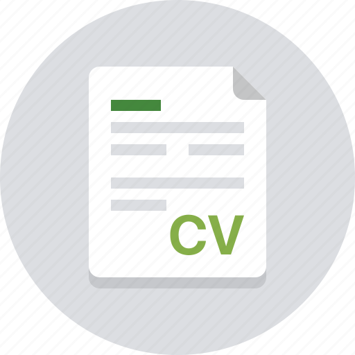 cv, data, document, file, information, paper, sheet icon