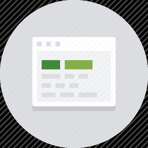 browser, codes, developer, development, output, page, web icon