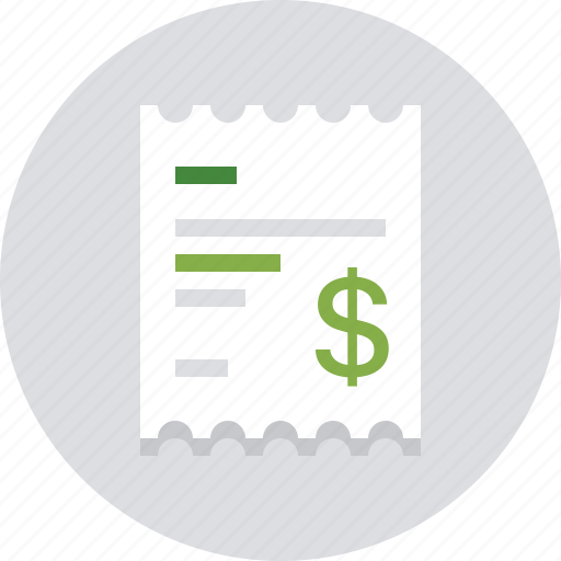 buy, dollar, finance, money, payment, receipt, shopping icon