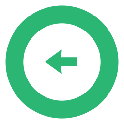 arrow, green, left, leftarrow icon