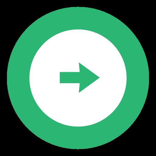 arrow, green, right, rightarrow icon