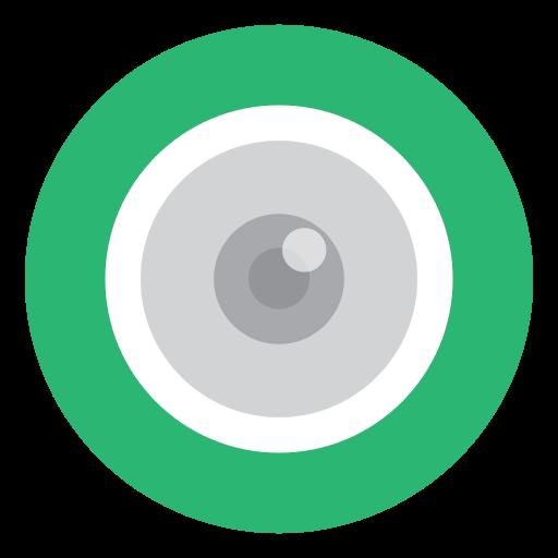 camera, cctv, eye, green icon