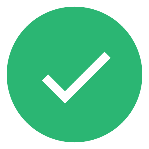 check, complete, done, green, success, valid icon